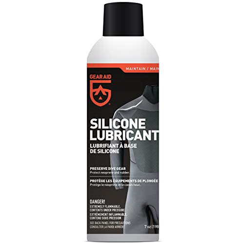 GEAR AID Silicone Lubricant Spray for Neoprene and Rubber Gear, 7 oz,...