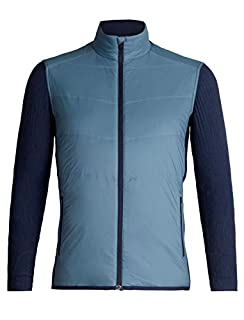 Icebreaker Merino Men's Descender Hybrid Jacket Snow-Skiing-Apparel, Granite Blue/Dark Night Heather, Medium (B078W7J8NR) | Amazon price tracker / tracking, Amazon price history charts, Amazon price watches, Amazon price drop alerts