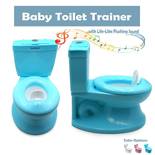 XKMT- Baby Kids Portable Blue Realistic Toddler Potty Training Toilet...