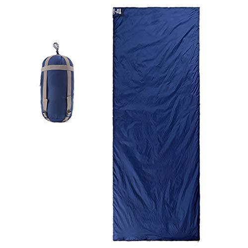 Freetrekker Schlafsack 205 x 85 cm 3 Jahreszeiten Deckenschlafsack (von 5 bis 15 °C) Leichter Wasserdichter Sommerschlafsack, für Outdoor Camping Wandern (Dunkelblau)
