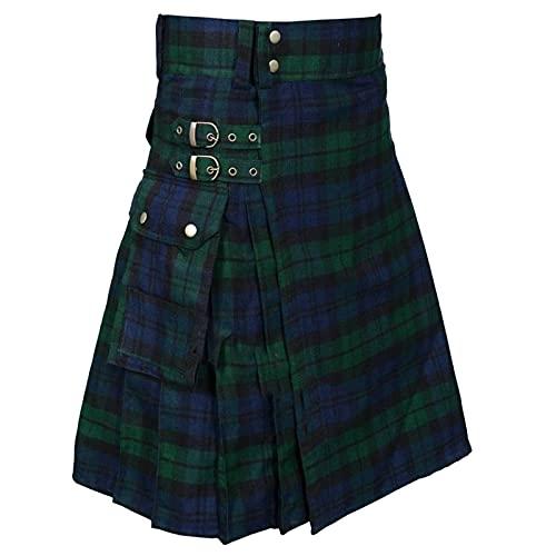 Corlidea Falda tradicional escocesa para hombre de Kit, verde, XL(Talla: 72 cm, H¨¹ften: 94 cm)