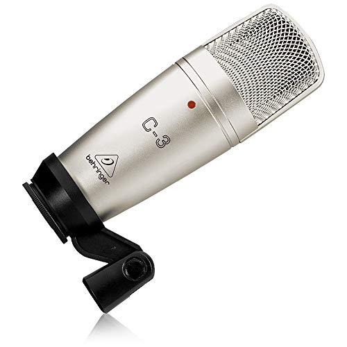 Behringer C-3 Micrófono de condensador (diafragma, de estudio), color plateado