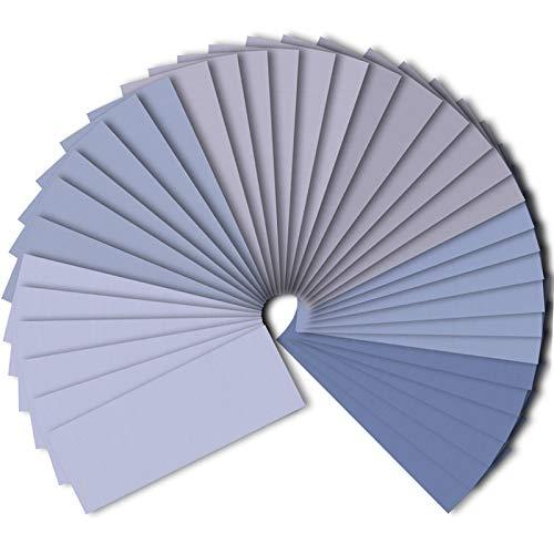 SIQUK 36 Stück Schleifpapier Set 1500 2000 2500 3000 5000 7000 Grit Schleifpapier Sortiment Trocken/Nass Sandpapier für das Automobilschleifen von Holzmöbeln, 9 x 3,6 Zoll
