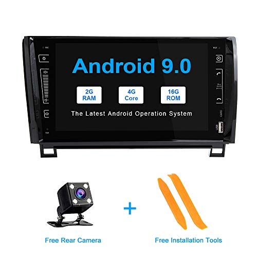 ZLTOOPAI Android 9.0 Autoradio voor Toyota Tundra Sequoia 2007-2013 stereo GPS-navigatie met 9 in HD multi-touchscreen-auto-mediaspeler dual-din-head-unit