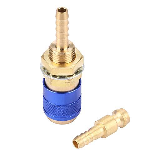 Conector de conexión, manguera fuerte conector rápido antorcha de soldadura con latón enchufe de soldadura para antorcha de soldadura (azul)