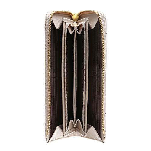 アンドシュエットchouetteビジューチェックラウンドL字ファスナー長財布財布レディースかわいいおしゃれギフトサマンサアンドシュエット合皮(ベージュ)