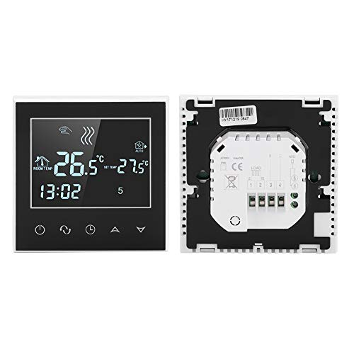 Slimme thermostaat - Programmeerbare draadloze WiFi-verwarmingsthermostaat - Programmeerbare thermostaat - Digitaal LCD-touchscreen App-bediening - voor Smart Home, DIY, Works