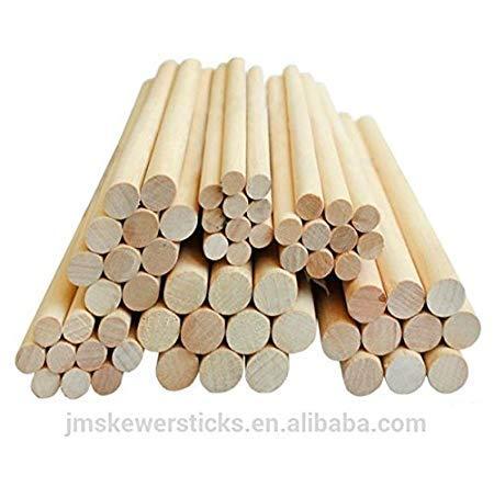Lot de 2 chevilles en bois dur 3,8 cm 20,3 cm