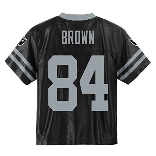 Antonio Brown Oakland Raiders#84 Black Youth Player Home Jersey (Large 14/16)