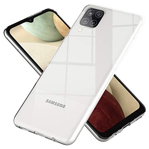 NALIA Klare Handyhülle kompatibel mit Samsung Galaxy A12 Hülle, Silikon Schutzhülle Clear Case Soft Phone Cover, Dünne Durchsichtige Handy-Tasche Ultra-Slim Bumper Etui Schale Backcover -Transparent