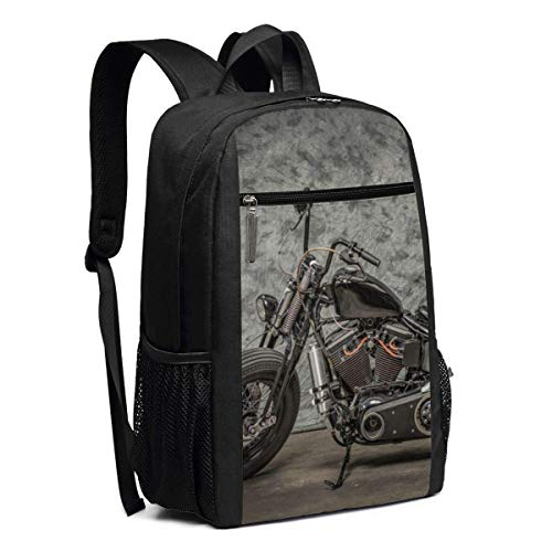 Laptop Backpack Harley Davidson Motorcycle Business Travel Computer Bag for Women and Men, College School Backpack Fits in Laptop, Notebook