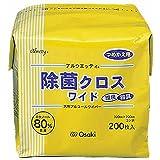 オオサキメディカル アルウェッティ除菌クロスワイド(詰替 72103(20X30CM)200マイ
