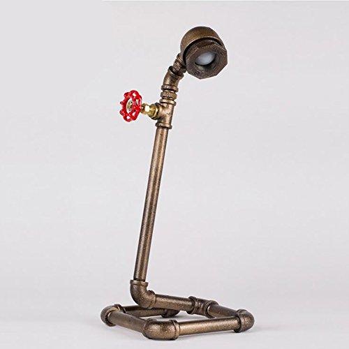 TOYM UK Lampe de table imperméable à l'eau lampe de lecture industrielle réelle éolienne à vent LED créative chambre à coucher lampe de chevet (Couleur : Cold light)