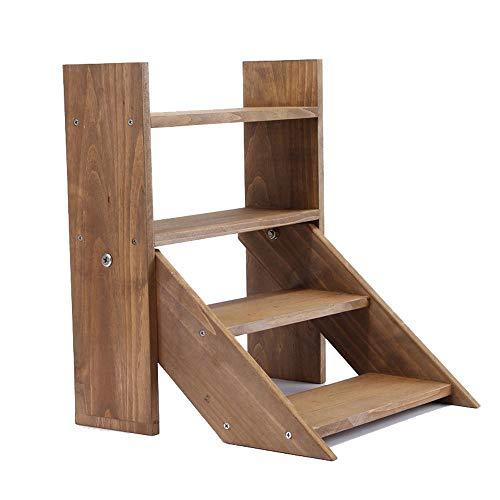 GFHJ1201 Mini Solid Wood Tafelplank, meerlagig Meaty Houten Creatieve Bloemenplank voor Baai Vensterbank Binnen Kleine Tafel