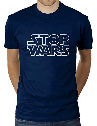 Stop Wars - Herren T-Shirt von KaterLikoli, Gr. S, French Navy