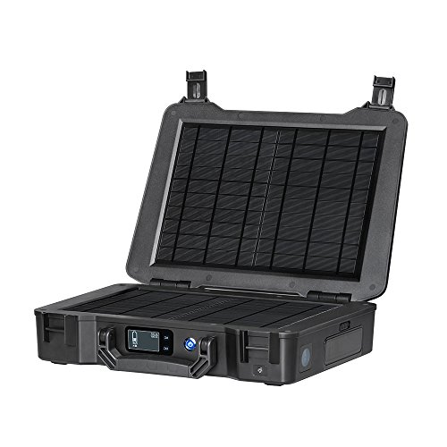 Renogy Phoenix 246.24Wh/150W Portable Generator All-in-one Kit with 20W Built-in Solar Panel for Outdoors Camping Travel Emergency Off-Grid Applications, Unavailable, Black