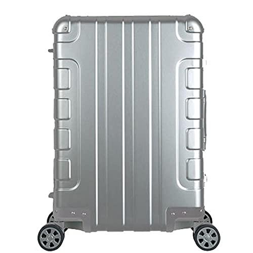 Equipaje de aleación de aluminio 100%, maleta con ruedas de 20 pulgadas, maleta con ruedas de mano-20L, plata pulida, China