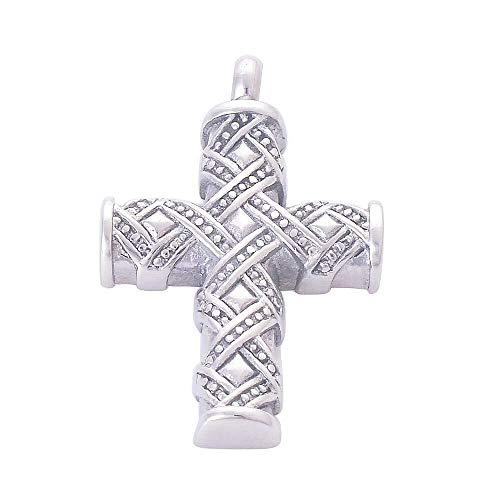 Collar de Moda para Mujer La cremación Cenizas Recuerdos Collar Colgante de Collar de Cadena de Plata clásica Cruz del Acero Inoxidable urnas Cenizas de la cremación de joyería Colgante Izar