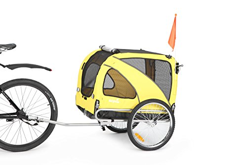 Sepnine & Leonpets Dog cart of 2 in1 Medium pet Dog Bike Trailer Bicycle Trailer and Jogger 10201 Yellow