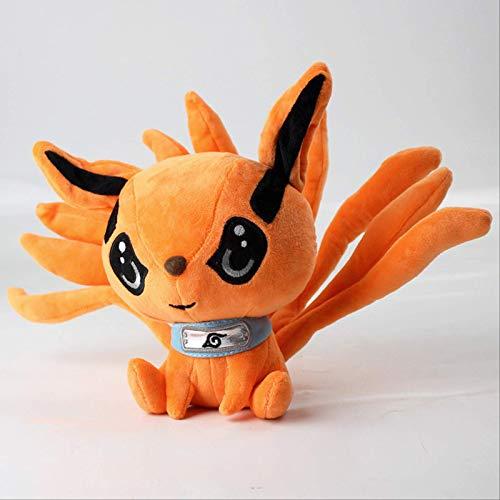 JIAL Anime Naruto Shippuden Fox Demon Juguetes de Peluche muñeca Uzumaki Kyuubi Kurama Nueve-Tales Fox Blandos Juguetes Regalo for Las Muchachas de los niños 25cm Chongxiang