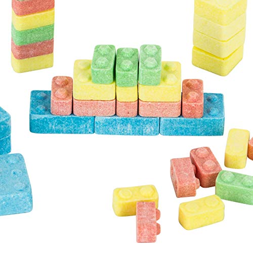 Candy Brix Assorted Fruit Flavors 18 Party Favor Bags, .42 Ounce Each | Fun Building Candy Bricks Blocks - Kosher (18 Party Bags)