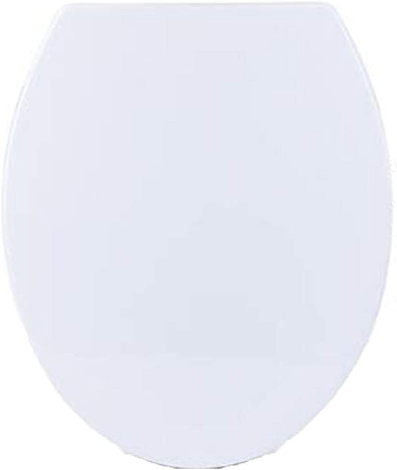 O-type, toilet seat with slow soft closure and quick release hinge, white