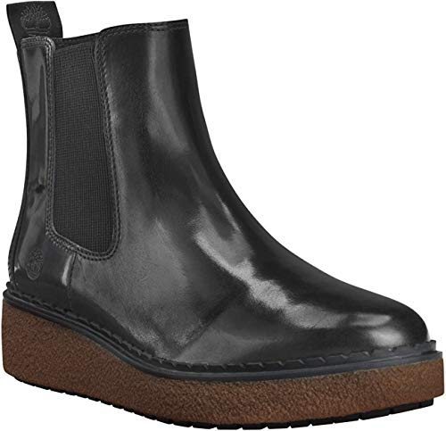 Timberland A24X2 Bluebell Lane Chelsea Boot Damen Leder Stiefelette Medium Grey Brush Off Grau, Groesse:38 (7 US)