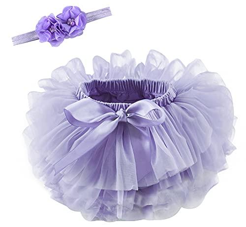 ZRFNFMA Pettiskirt Infantil Falda de Baile de niña Ropa para niños Ropa para Mujer Danza de Las Mujeres Falda de Tul de Las Vacaciones Purple-XL