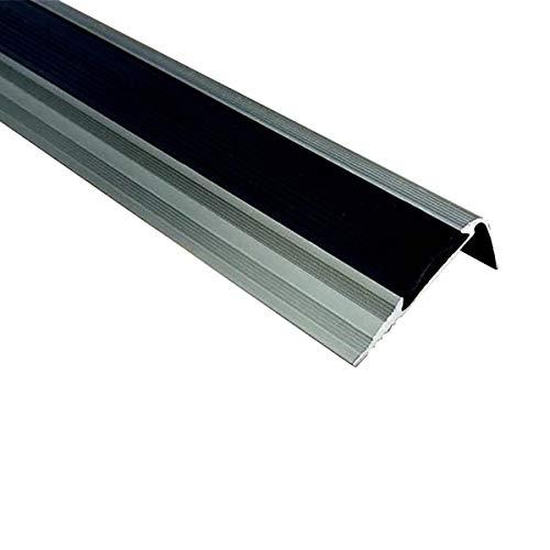 KDOAE Nariz Antideslizante de Escalera Perfiles de Borde de Paso de ángulo 40x20mm 90 cm / 120 cm de Longitud de Aluminio de Longitud Anti resbalón sin Deslizamiento Adecuado para Escaleras