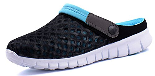 Femmes Hommes Sabots Mules Respirant Chaussures de Jardin Perforés-Sabot de Plage Sport Pantoufles Piscine Sandales D'Été Chaussures, Bleu, 41 EU