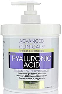 Advanced Clinicals Hyaluronic Acid Cream Anti Aging