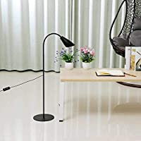 KEKEYANG 居間用 プールテーブル照明調節可能なLEDフロアランプライト読書ホームオフィス調光可能なデスクテーブル(カラー:ブラック、サイズ:A) 北欧