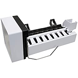White and black universal ice maker replacement unit.