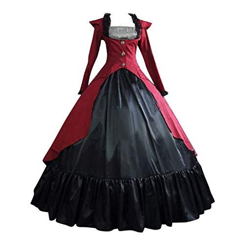 SALUCIA Damen Mittelalter Gothic Kostüm Elegant Retro Kleider Gewand Viktorianisches Renaissance Prinzessin Barock Rokoko Kleidung SA220