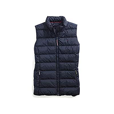 Tommy Hilfiger Women's Adaptive Puffer Vest with Magnetic Zipper, Masters Navy, X-Large by Tommy Hilfiger