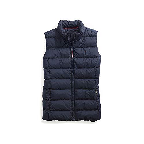 Tommy Hilfiger Damen Puffer Vest with Magnetic Zipper Daunenweste, Masters Navy, X-Large