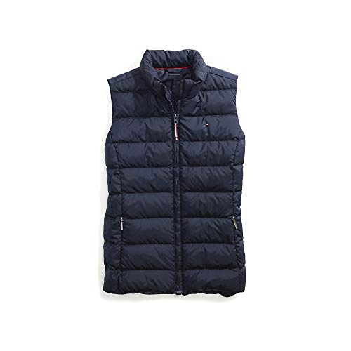 Tommy Hilfiger Damen Puffer Vest with Magnetic Zipper Daunenweste, Masters Navy, X-Large