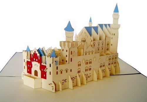 LIN - Tarjeta 3D desplegable con diseño de castillo de Neuschwanstein