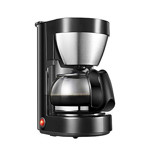 ZGZXD Cafeteras de Goteo, Coffee Maker eléctrica con Filtro 0,65 litros, 6 Tazas cafetera té de Burbujas, Negro