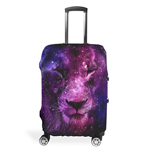 Travel Tiger Lion Animal-Mirror Suitcase Cover Protector - Personalized 4 Sizes fit Protective Luggage Case White 19-21in