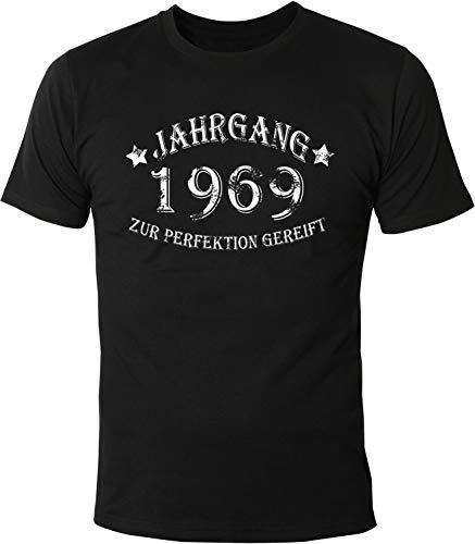 Mister Merchandise Herren Men T-Shirt Jahrgang 1969 zur Perfektion gereift Aged to Perfection Geburtsjahr Tee Shirt Bedruckt Schwarz, XXL