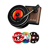 Car Diffuser Prefume Air freshener - Record Player Style with Vent Clip,Automotive Fragrance Diffuser For Car Home Office,3 Aromatherapy Tablets Included
