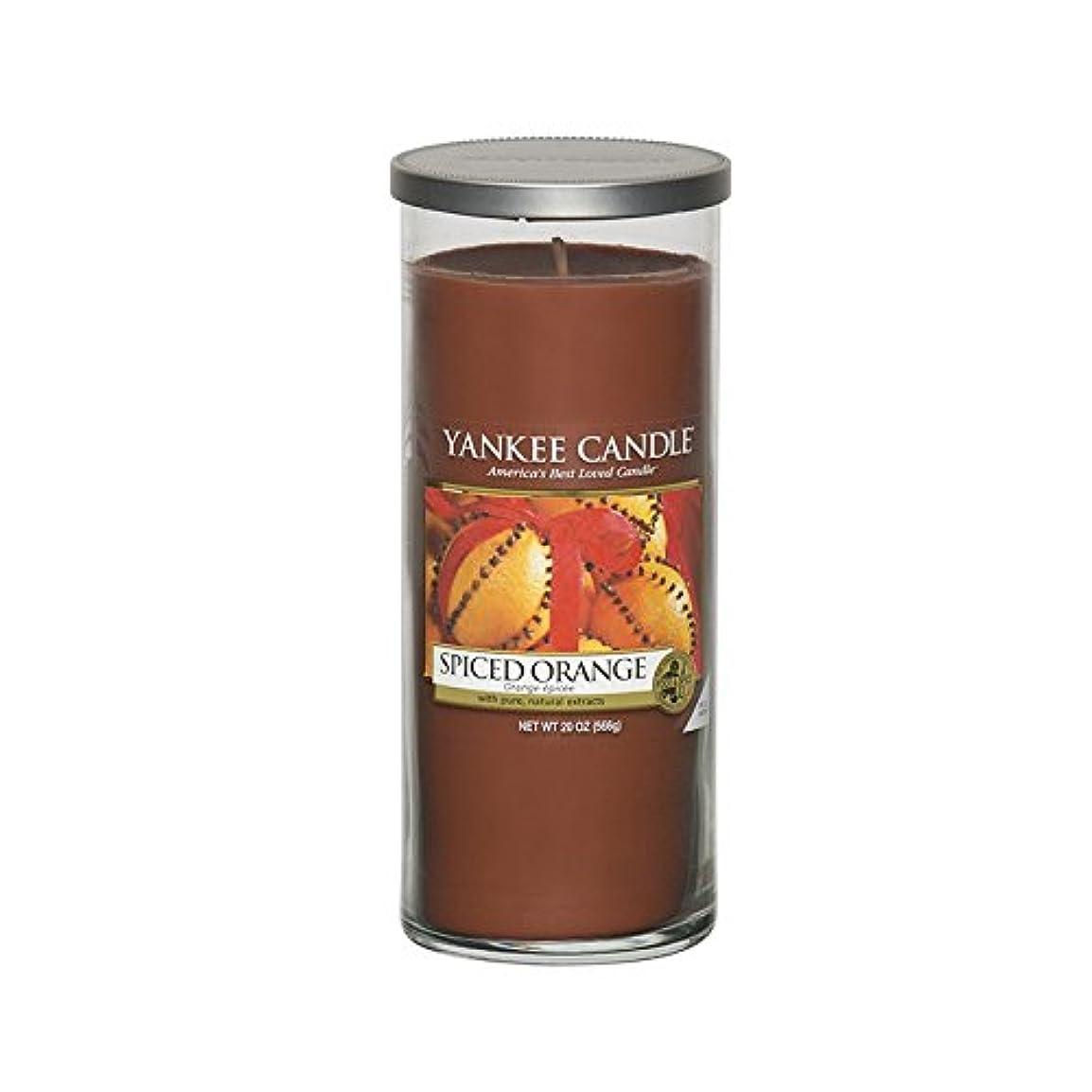 採用する豊かな五月Yankee Candles Large Pillar Candle - Spiced Orange (Pack of 2) - ヤンキーキャンドル大きな柱キャンドル - スパイスオレンジ (x2) [並行輸入品]