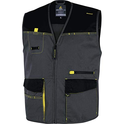 Delta plus - Chaleco d-mach poliester algodón gris amarillo talla xxl