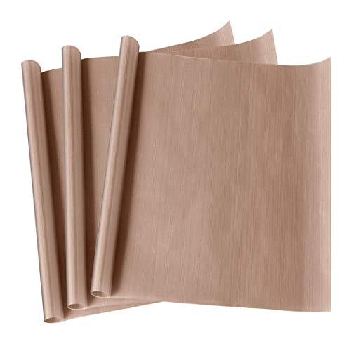 "3 Pack 12 x 16"" PTFE Teflon Sheet for Heat Press Transfer Non Stick Paper Reusable Heat Resistant Craft Mat,Protects Iron,for Heat Press Machines"