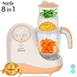 Baby Food Maker Chopper Grinder - Mills and Steamer 8 in 1 Processor for Toddlers - Steam, Blend, Chop, Disinfect, Clean, 20 Oz Tritan Stirring Cup, Touch Control Panel, Auto Shut-Off, 110V Only