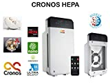 CRONOS HEPA purificador de Aire con Filtro HEPA, Filtro de carbón Activo y nanocatalizador, Motor Mitsubishi, Filtro de 4 Niveles 99,97% de Potencia de Filtro, Modo Nocturno, alérgicos y Fumadores