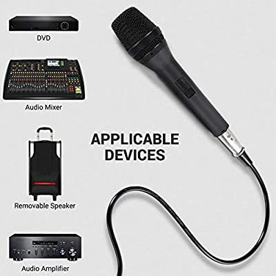 Dynamic Vocal Microphone, Universal Multifunctional Dynamic Microphone with 5m Audio Line, High Fidelity Cardioid Vocal Instrument Voice Microphone, Shockproof Noiseless Quality Dynamic Microphone