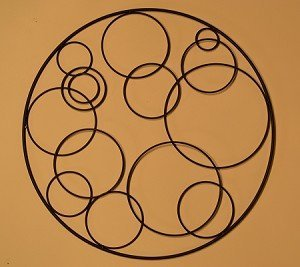 J&J Wire Circular Wall Accent