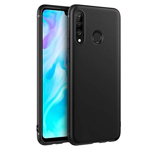 EasyAcc Custodia per Huawei P30 Lite Cover, Morbido TPU Cover Slim Anti Scivolo Protezione Posteriore Case Antiurto E' Adatto per Huawei P30 Lite - Nero